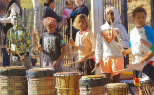 Kids keeping to the beat in mimili